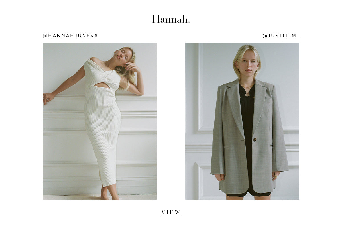 HANNAH FOR PUBLIC FIGURE ETHICAL AND SUSTAINABLE FASHION