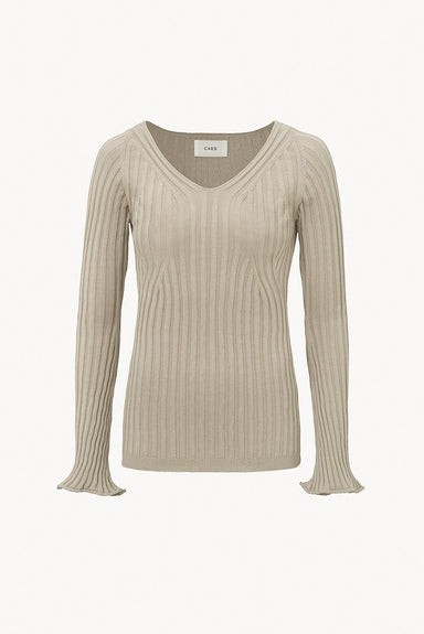 Caes 0009 ribbed-knit sweater in organic cotton