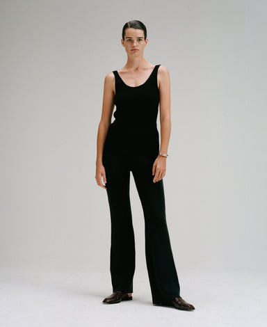Caes 0017 relaced knitted trousers