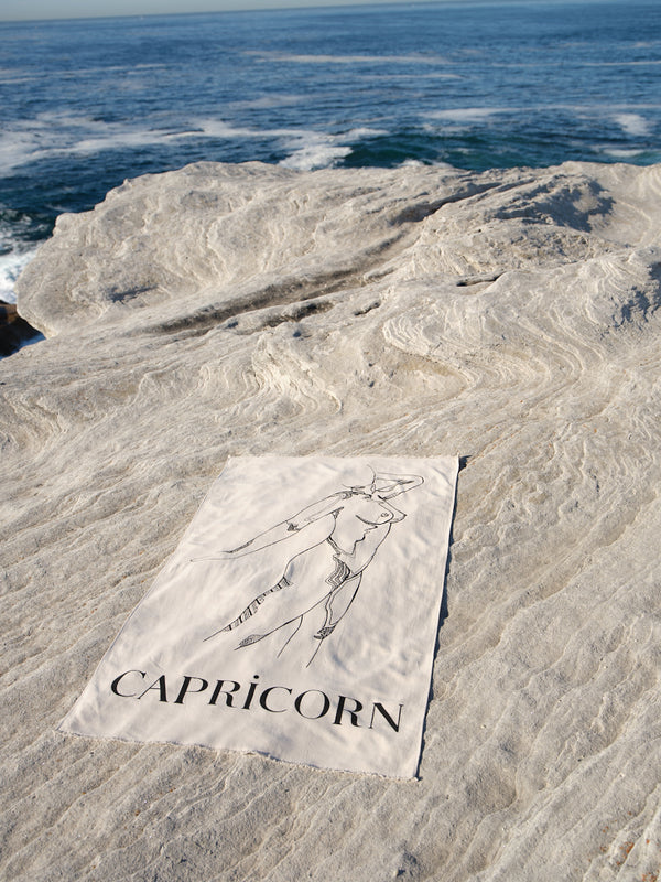 Capricorn Beach Towel - December 22 - January 20