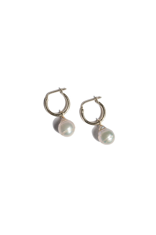 FLASH JEWELLERY Eva Pearl Hoops