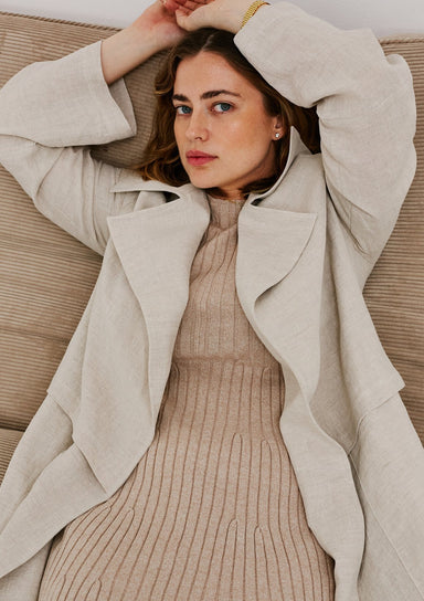 Jillian Boustred Teddy Linen Coat