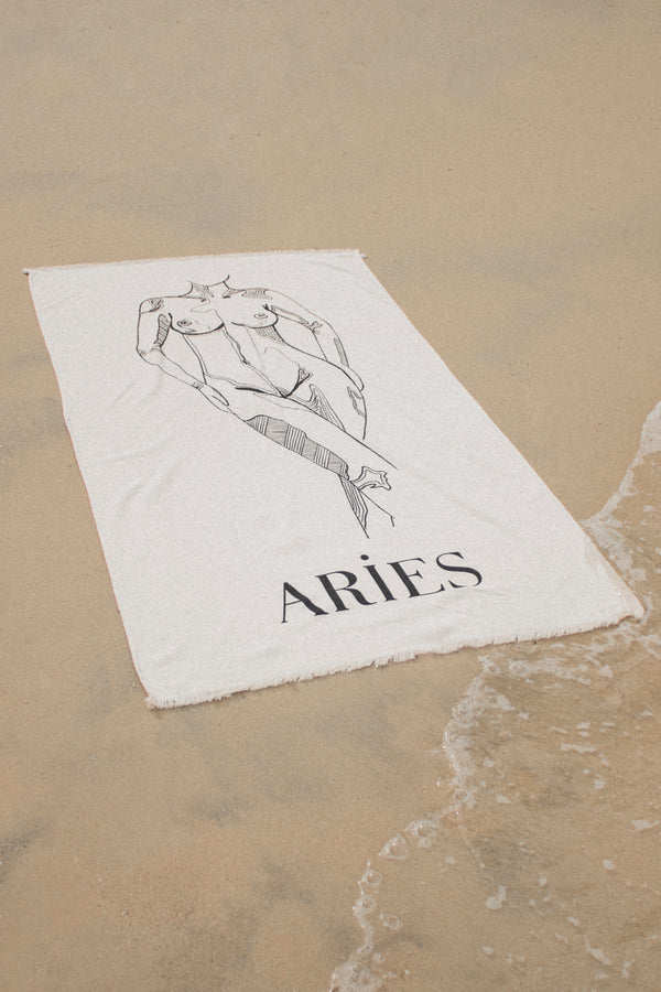 Aries Beach Towel - March 21- April 20