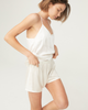 Maison Essentiele Silk Mini Short - White