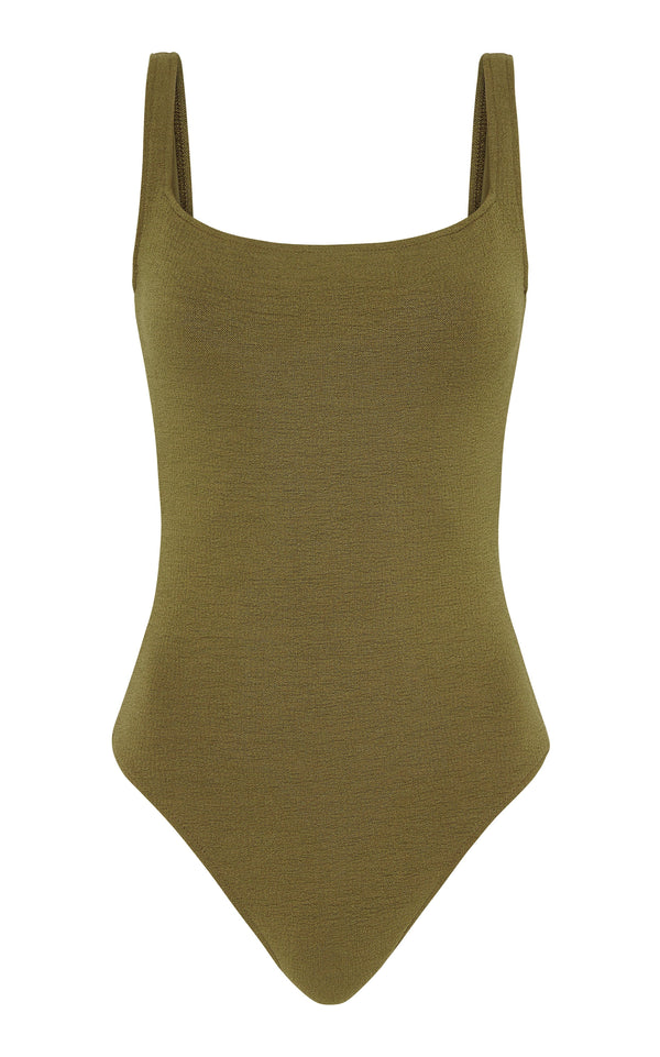 Ziah Philo One Piece Bouclê - Olive