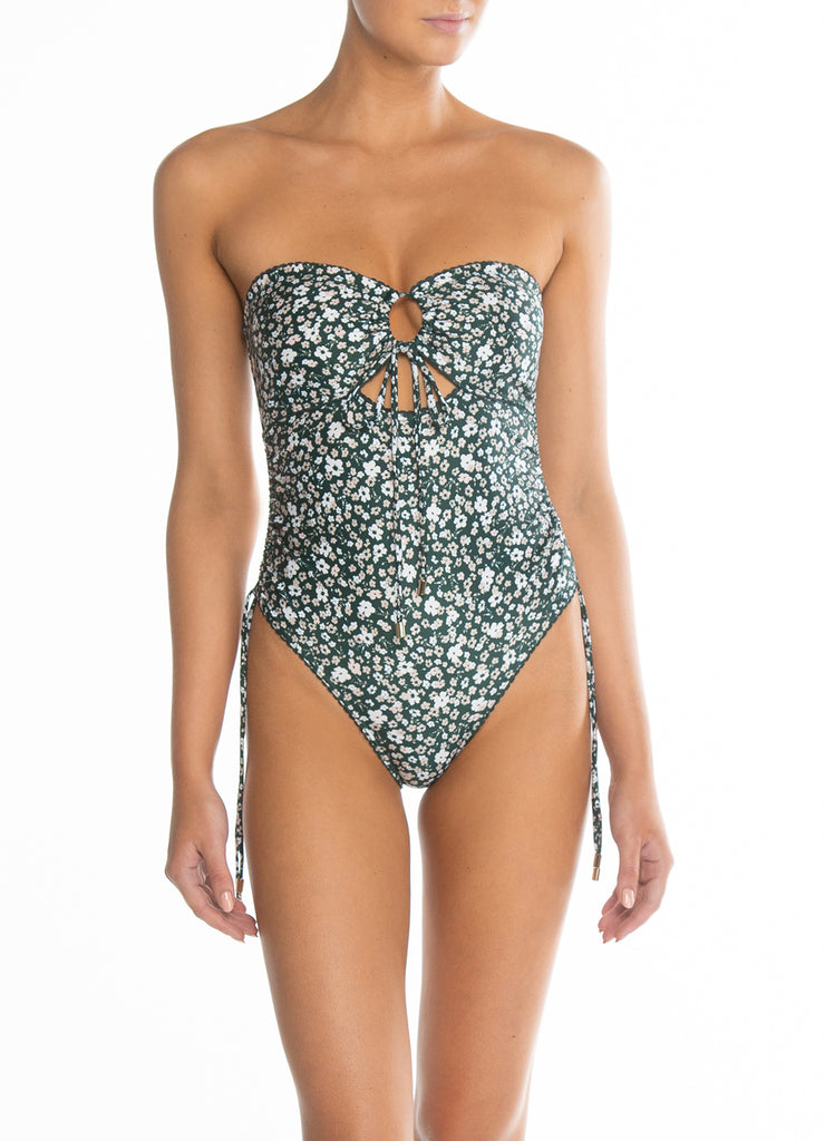 Petite Fleur Ruched One Piece