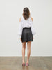 Arie Leather Mini Skirt