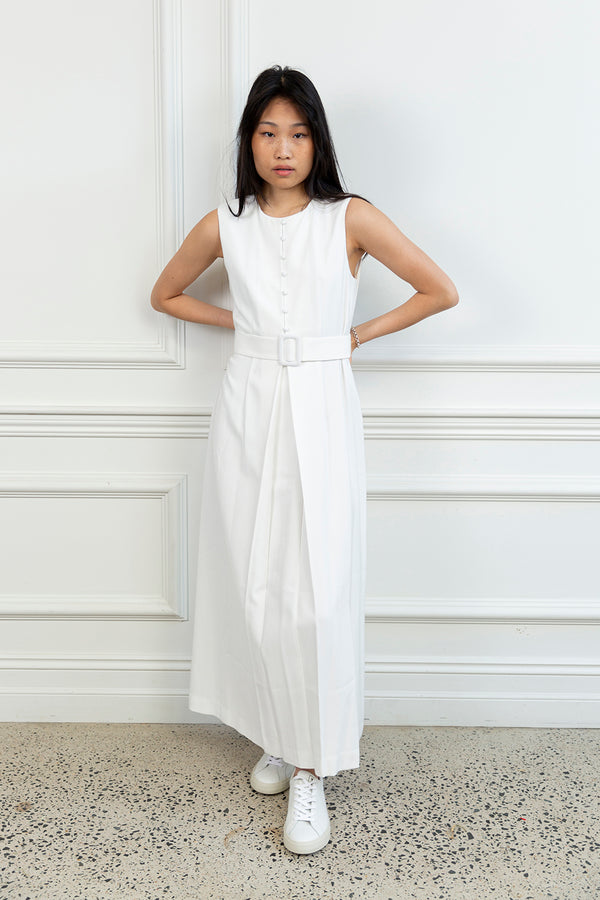 Rouleau Plissé Maxi Dress