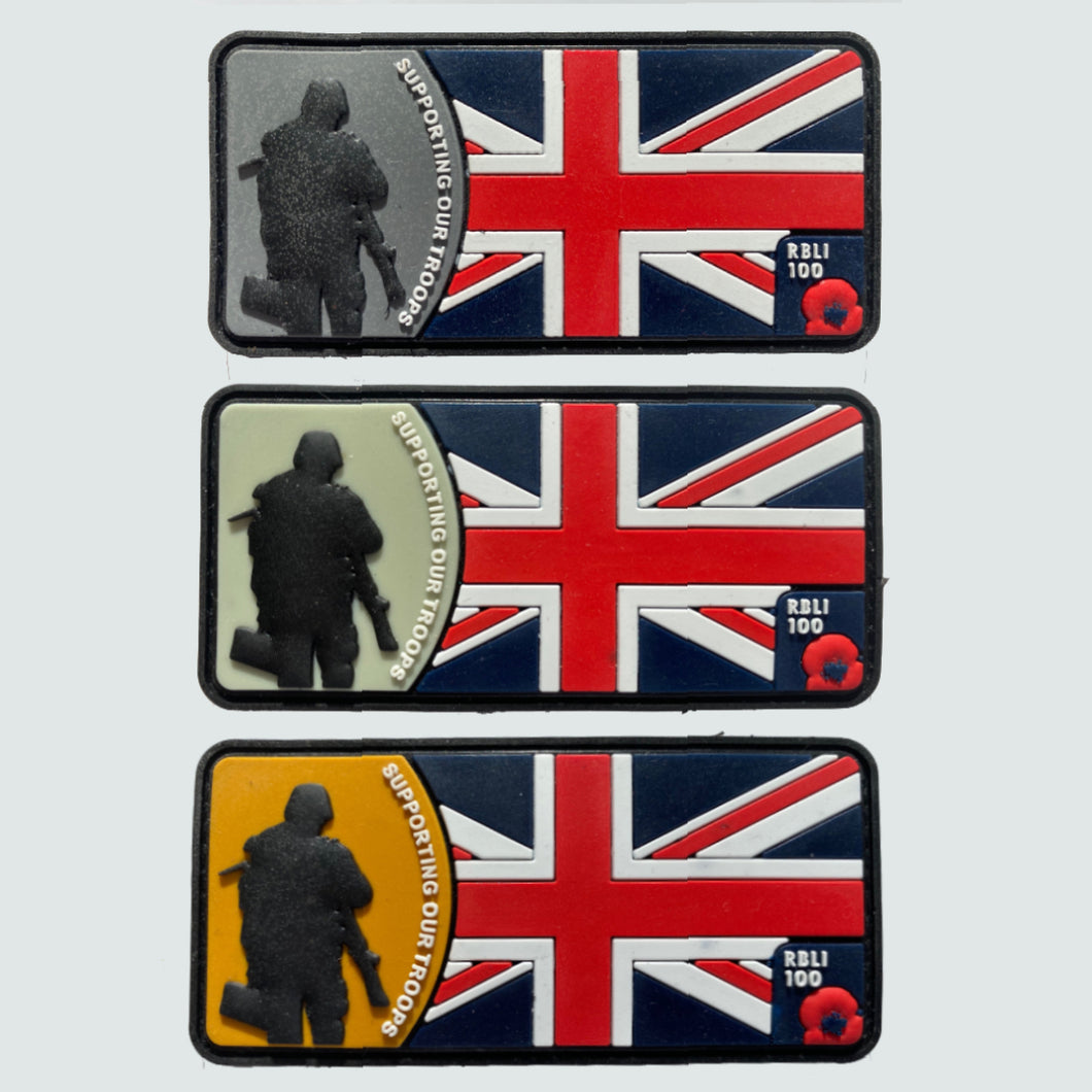 Supporting Our Troops Flag Velcro Patch Pack of 3