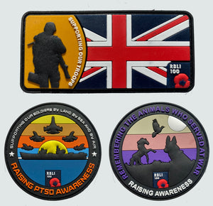 PTSD Awareness Velcro Patch Pack of 3