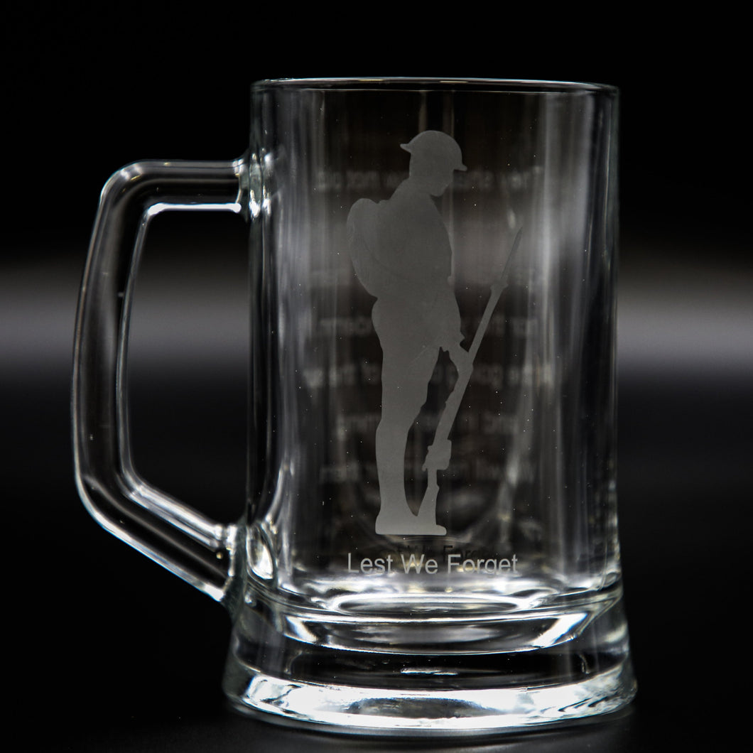Tommy Glass Tankard/ Beer Mug