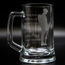 Load image into Gallery viewer, Tommy Glass Tankard/ Beer Mug