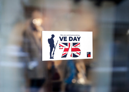 VE Day Window sticker 'Tommy in the Window'
