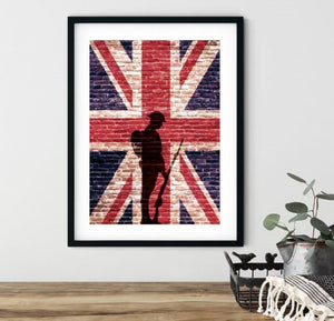 Original Tommy Wall Art | Union Jack Solid