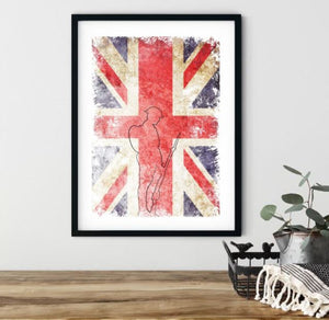 Original Tommy Wall Art | Union Jack Outline