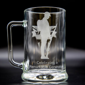 VE Day 2021 Glass Tankard/ Beer Mug