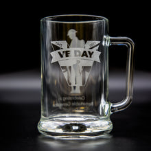 Load image into Gallery viewer, VE Day 2021 Glass Tankard/ Beer Mug