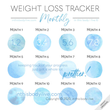 Blueberries - Monthly Weight Loss Tracker