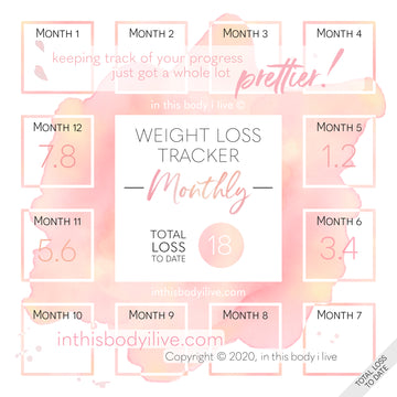 Coral Splash - Monthly Weight Loss Tracker