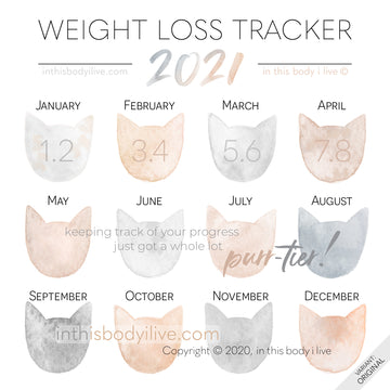 Cats - 2021 Weight Loss Calendar