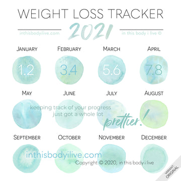 Under the SeaGreen - 2021 Weight Loss Calendar
