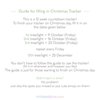 Christmas Lights - Weekly Tracker