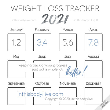 Minimal Black - 2021 Weight Loss Calendar