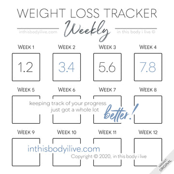 Minimal Black - Weekly Weight Loss Tracker