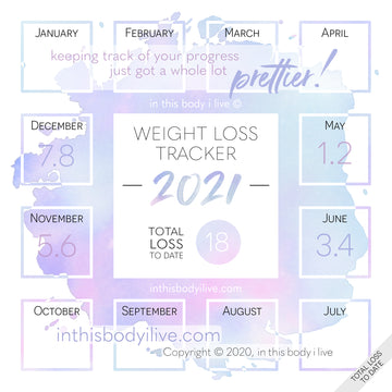 Purple Splash - 2021 Weight Loss Calendar