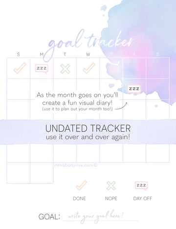 Goal tracker - Purple Splash