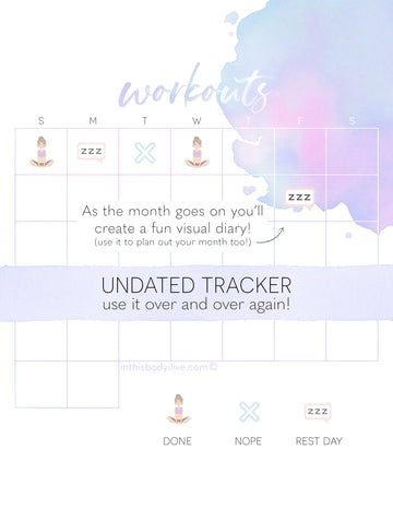 Workouts tracker - Purple Splash