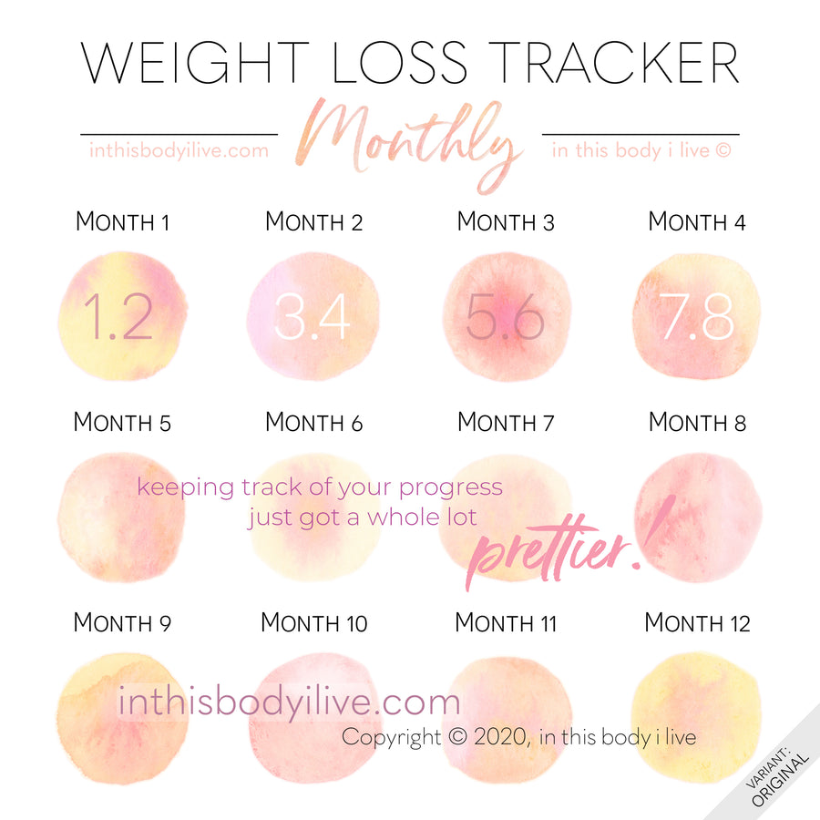Life's Peachy - Monthly Weight Loss Tracker