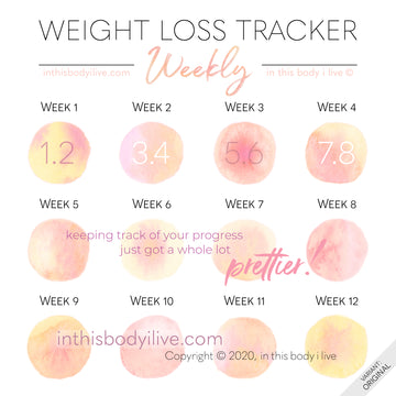 Life's Peachy - Weekly Weight Loss Tracker