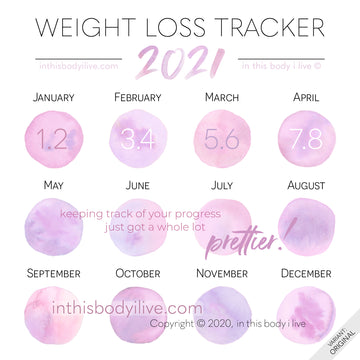 Pretty in Pink - 2021 Weight Loss Calendar
