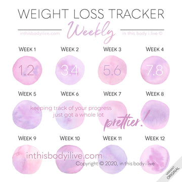 Pretty in Pink - Weekly Weight Loss Tracker