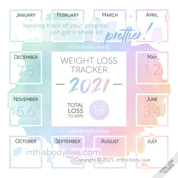 Rainbow Splash - 2021 Weight Loss Calendar