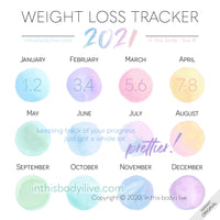 2021 Weight Loss Tracker by in this body i live   Over the Rainbow