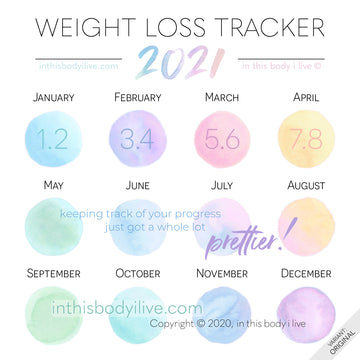 Over the Rainbow - 2021 Weight Loss Calendar