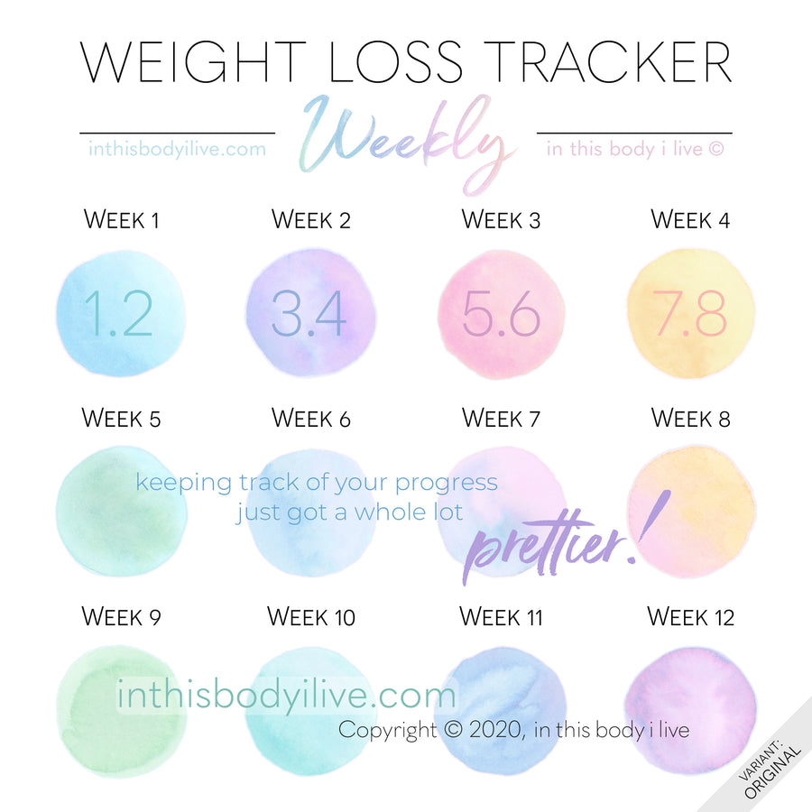 Over the Rainbow - Weekly Weight Loss Tracker