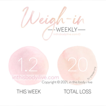 Weekly Weigh-In Tracker - Coral Peach