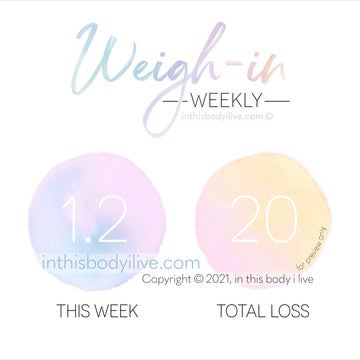 Weekly Weigh-In Tracker - Rainbow