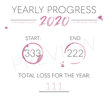 Wine O'Clock - 2020 Yearly Progress Tracker