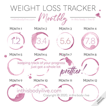 Wine O'Clock - Monthly Weight Loss Tracker