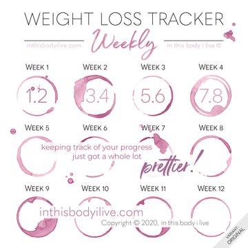 Wine O'Clock - Weekly Weight Loss Tracker