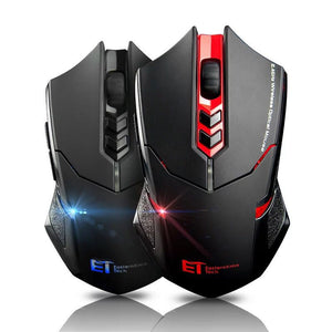 VicTsing Wireless Gaming Mouse 2400 DPI Ergonomic Grips 7 Buttons Breathing Backlit Unique Silent Click Wireless Mouse Gaming