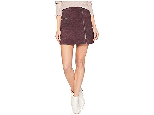 [BLANKNYC] Women's Real Suede Mini Skirt Skirt, BlackBerry, 31