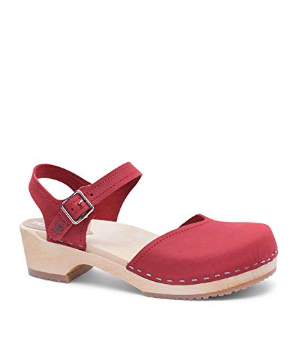 Sandgrens Swedish Wooden Low Heel Clog.
