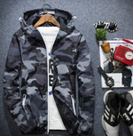 Camouflage Men Hooded Luminous Zipper Coats