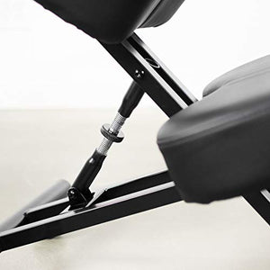 DRAGONN (by VIVO) Ergonomic Kneeling Chair, Adjustable Stool for Home and Office - Improve Your Posture with an Angled Seat - Thick Comfortable Cushions, Black (DN-CH-K01B)