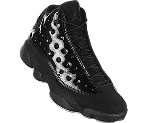 Jordan Men's Retro 13 Black/Black Leather Basketball Shoes 12 M US